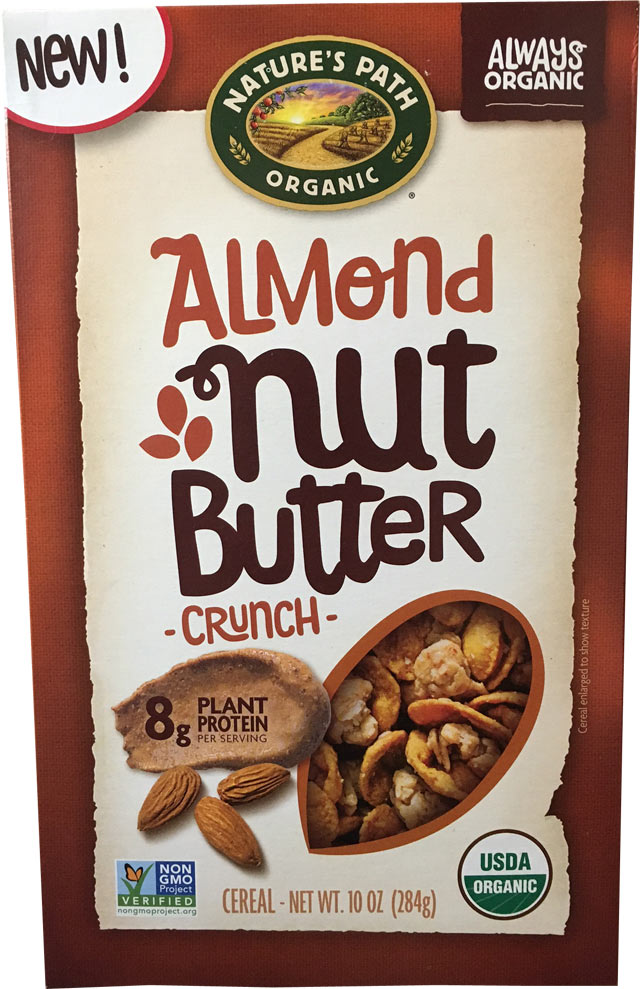 Almond Nut Butter Crunch Cereal Box