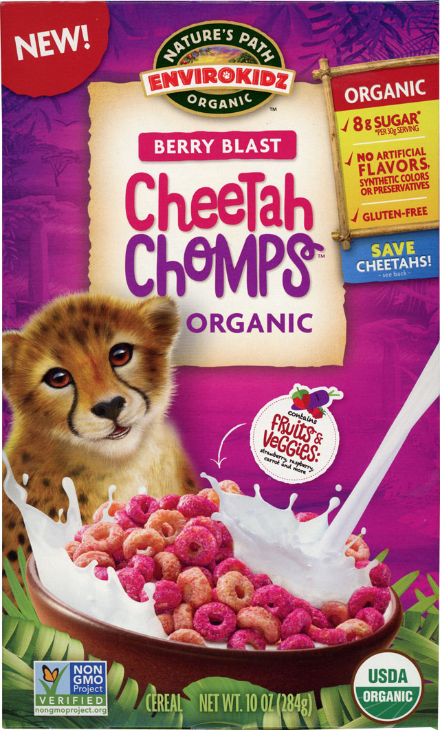 Berry Blast Cheetah Chomps Cereal Box