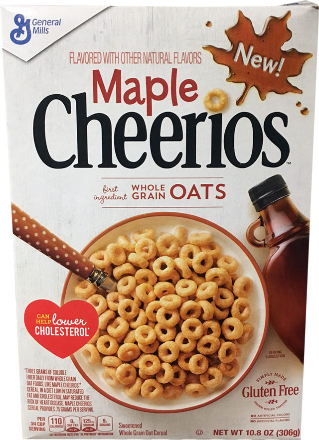 Maple Cheerios Cereal Box