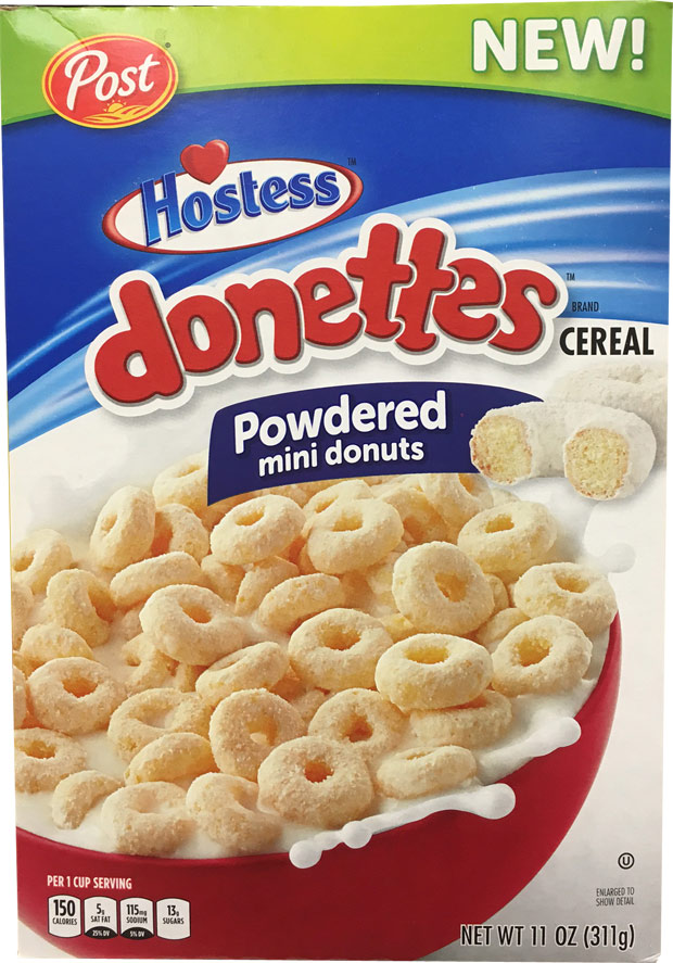 Hostess Donettes Cereal Box