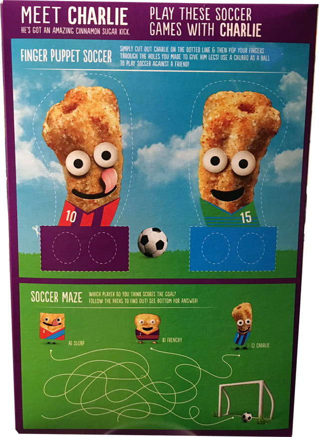 Churros Cereal Box - Back