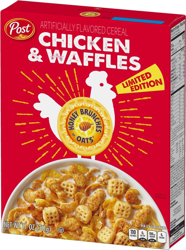 Chicken & Waffles Honey Bunches of Oats Cereal Box