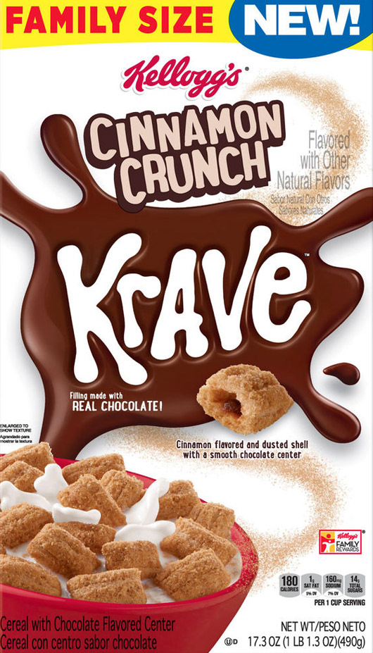 Cinnamon Crunch Krave Cereal Box