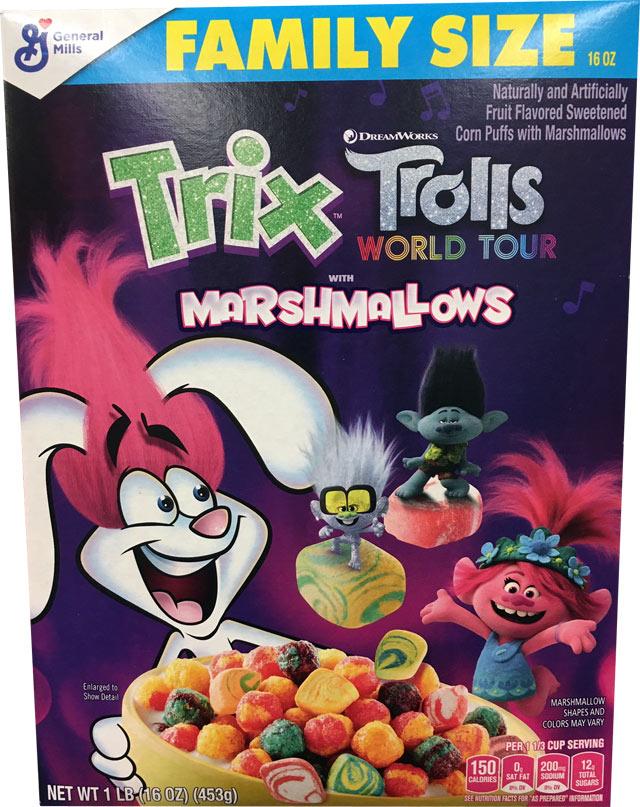 Trix Trolls World Tour Cereal