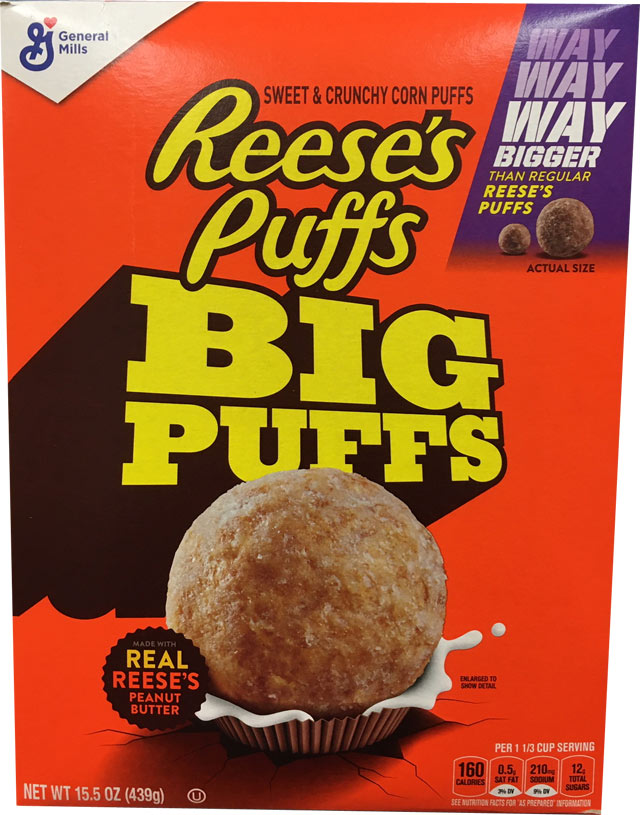 Reese's Puffs Big Puffs Cereal Box