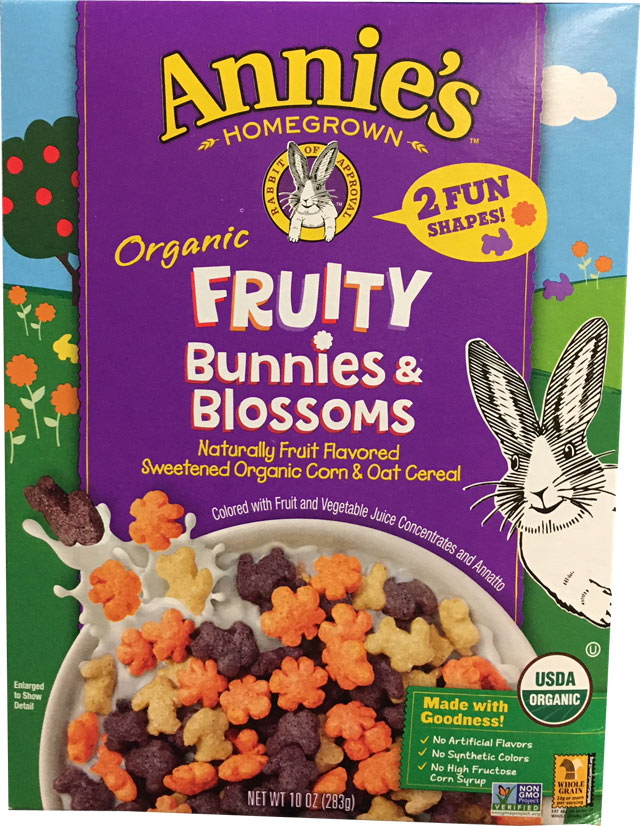 Bunnies & Blossoms Cereal Box