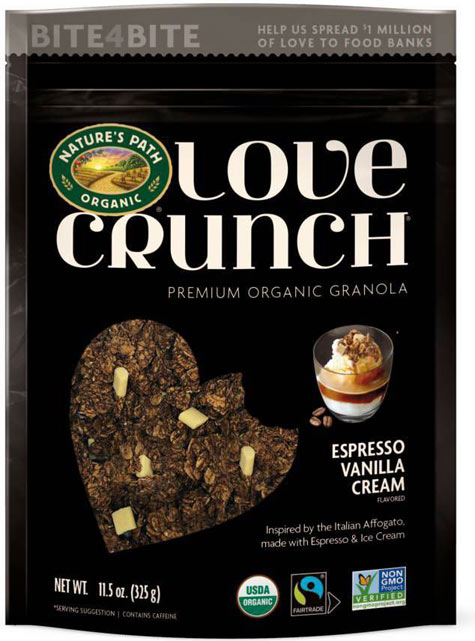 Espresso Vanilla Cream Love Crunch Granola Package