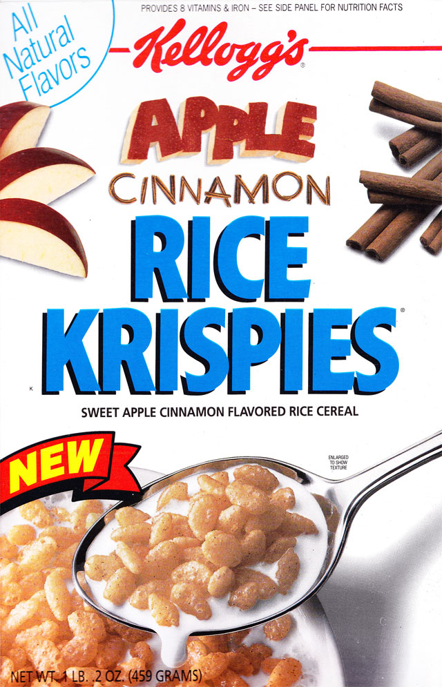 Apple Cinnamon Rice Krispies Cereal Box (Front)