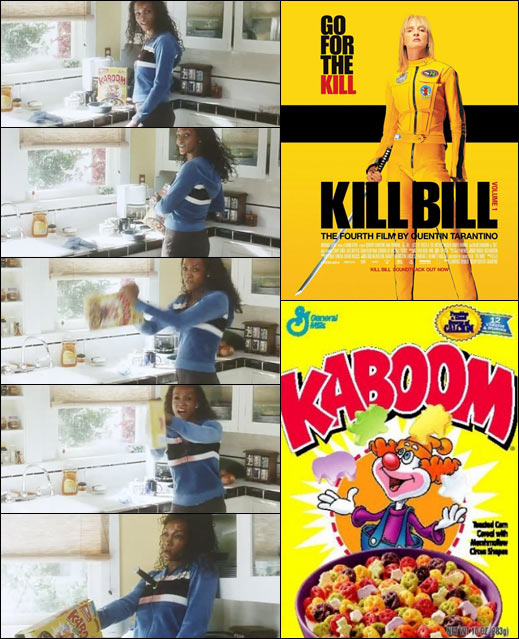 Kaboom Cereal in Kill Bill Volume One