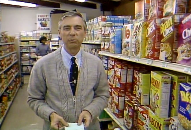 Kaboom Cereal In 1984 with Mr. Rogers