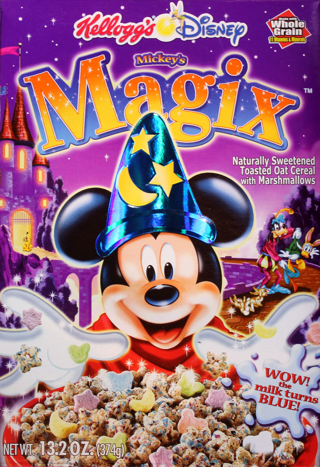 Mickey's Magix Cereal Box (Front)