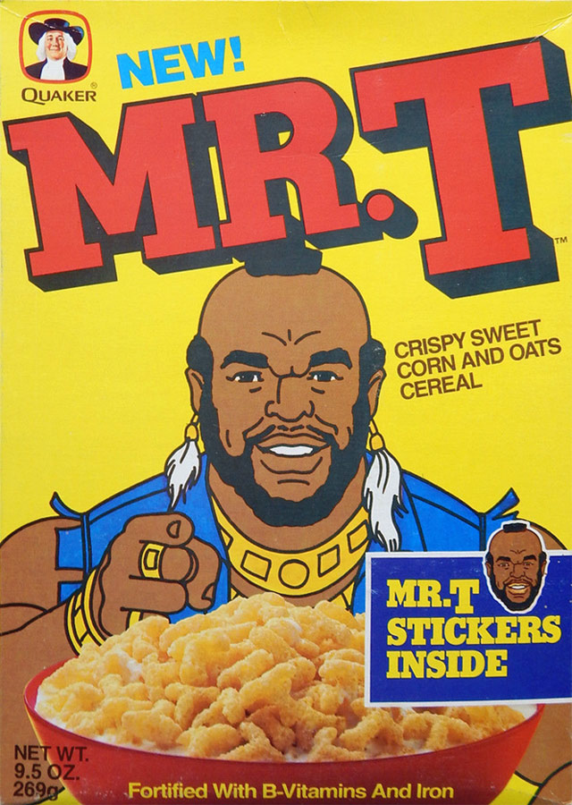 Mr. T Cereal Box (Front)
