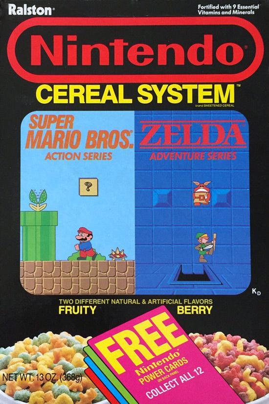 Nintendo Cereal System Box (Front)