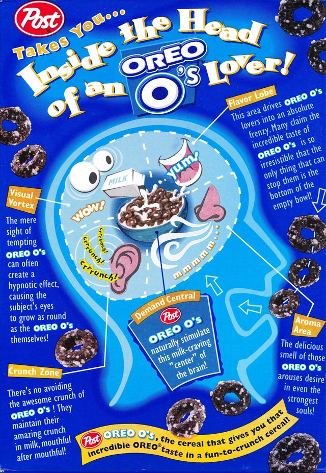 Oreo O's Cereal Box (Back)
