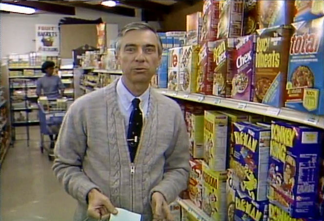 Donkey Kong Cereal In 1984 with Mr. Rogers