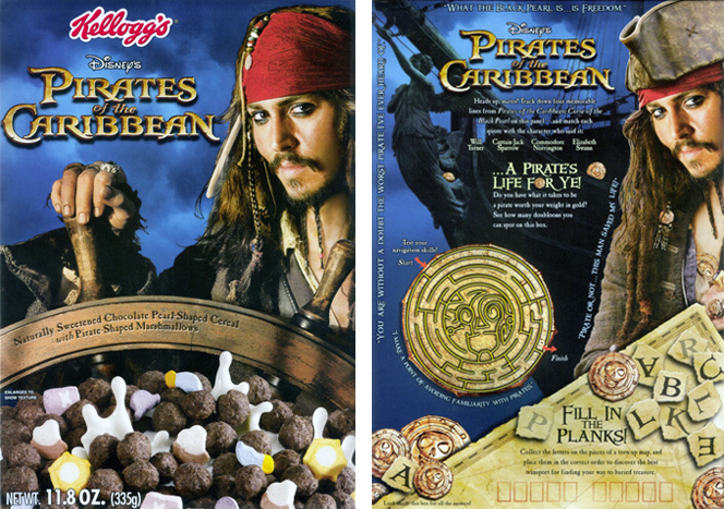 2006 Pirates of the Caribbean Cereal Box