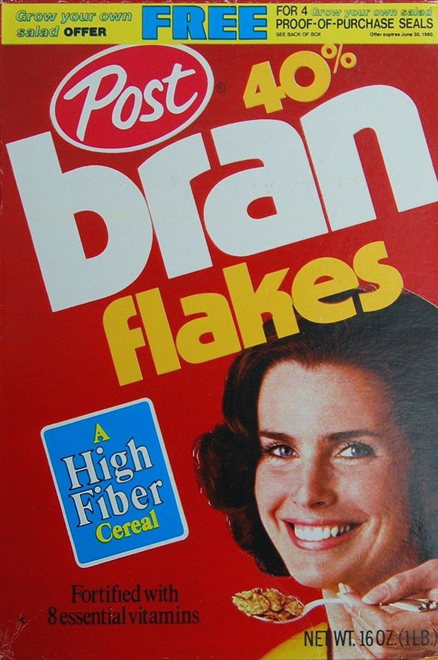 Post 40% Bran Flakes from 1979