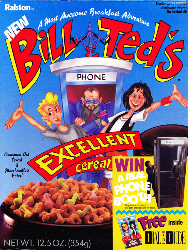 Bill & Ted's Excellent Cereal Box (Front)