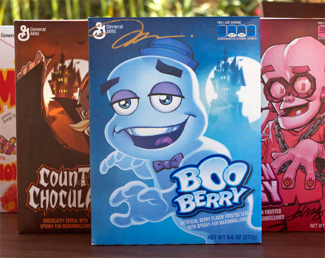 2014 Boo Berry Cereal Box