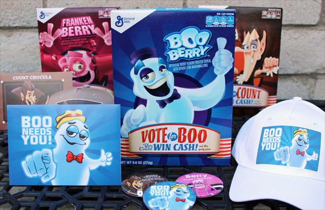 2016 Boo Berry Cereal Box