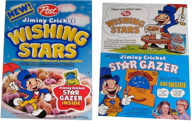 Jiminy Cricket Wishing Stars Cereal Profile