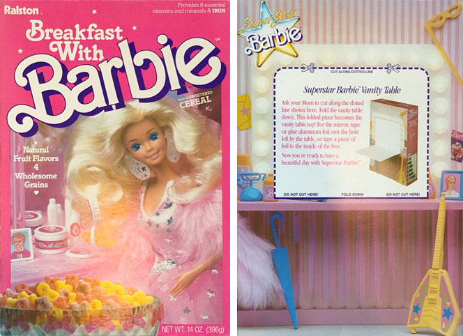 Breakfast With Barbie Cereal Box
