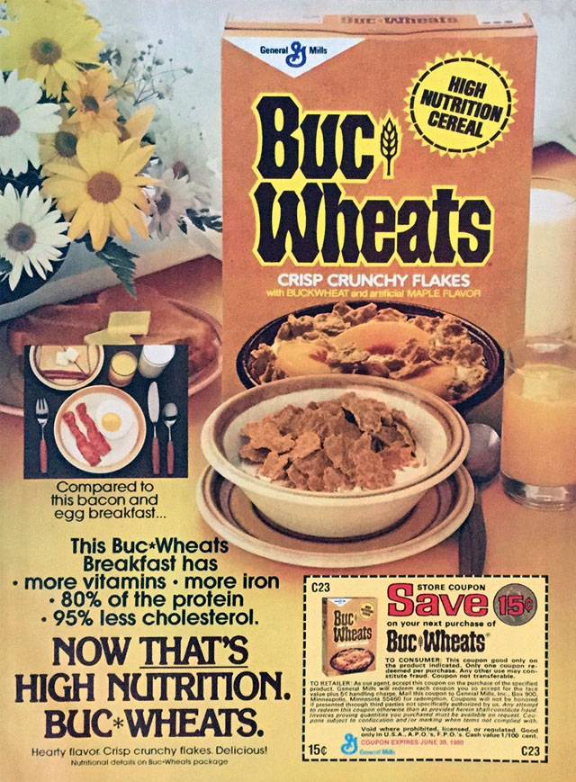 1979 Buc Wheats Cereal Advertisement