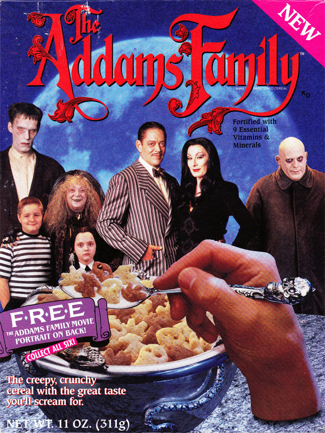 The Addams Family Cereal Box (Front)