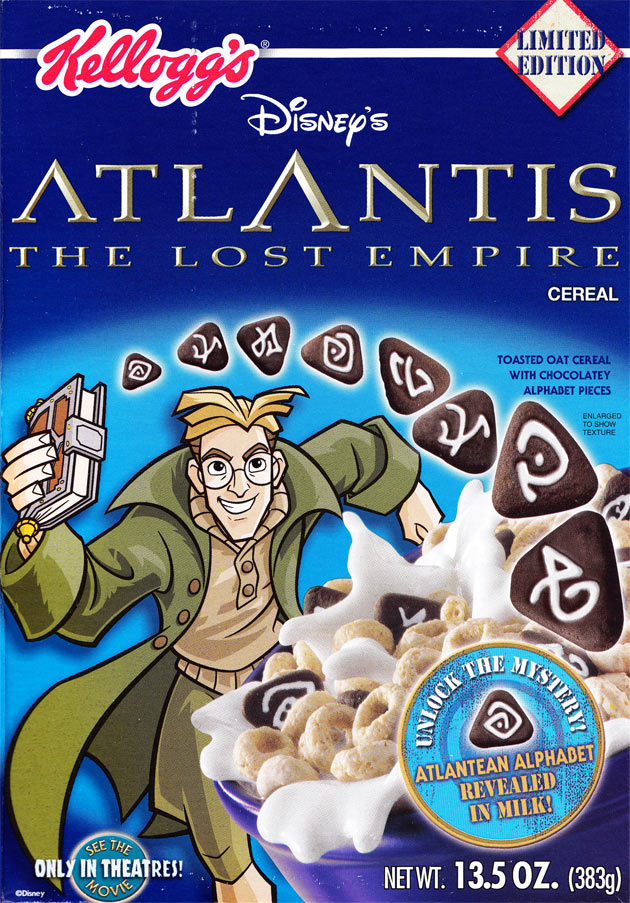 Atlantis Cereal Box (Front)