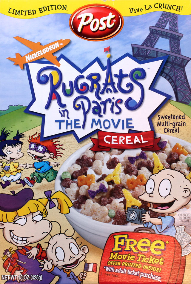 Rugrats In Paris Cereal Box Front