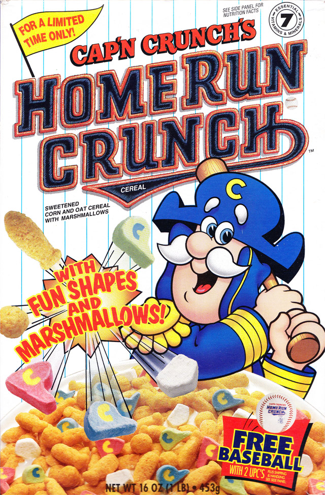1996 Home Run Crunch Cereal Box (Front)