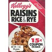 Raisins Rice & Rye