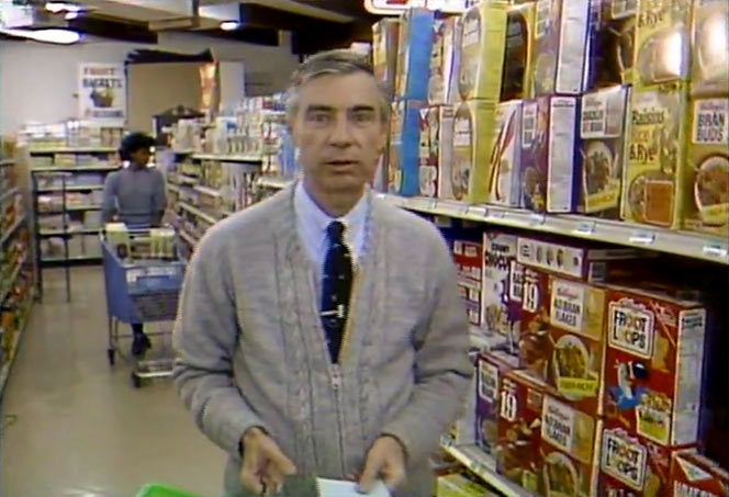 Raisins Rice & Rye Cereal In 1984 with Mr. Rogers