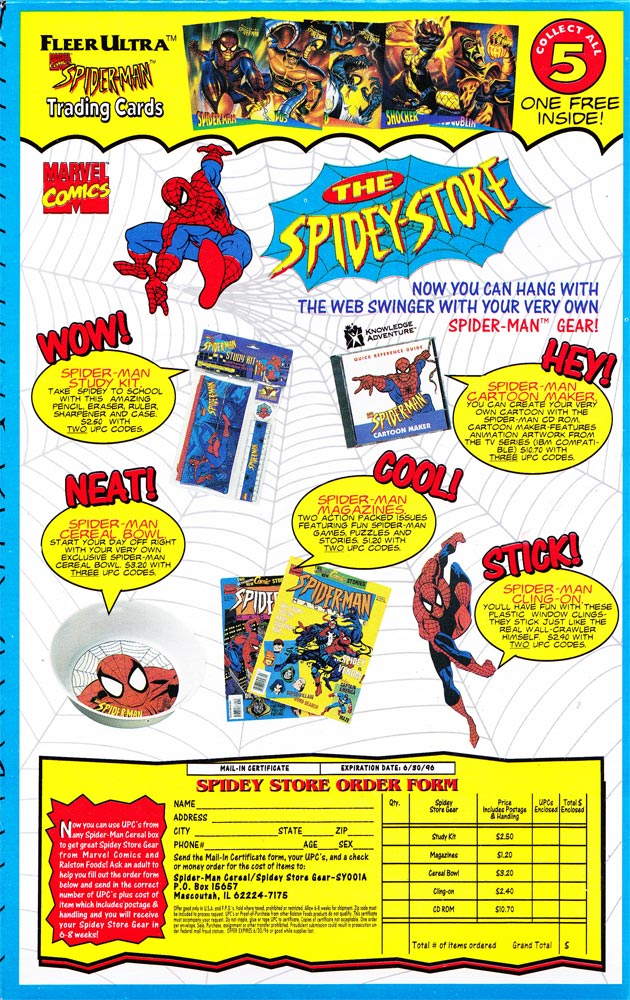 Ralston Spider-Man Cereal Box (Back)
