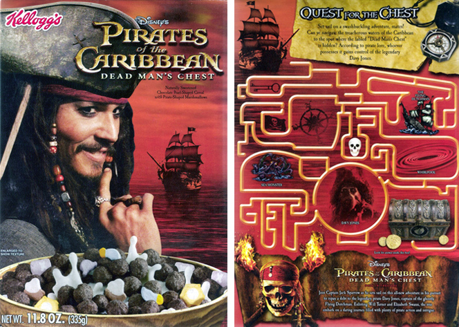 2006 Pirates of the Caribbean: Dead Man's Chest Cereal Box