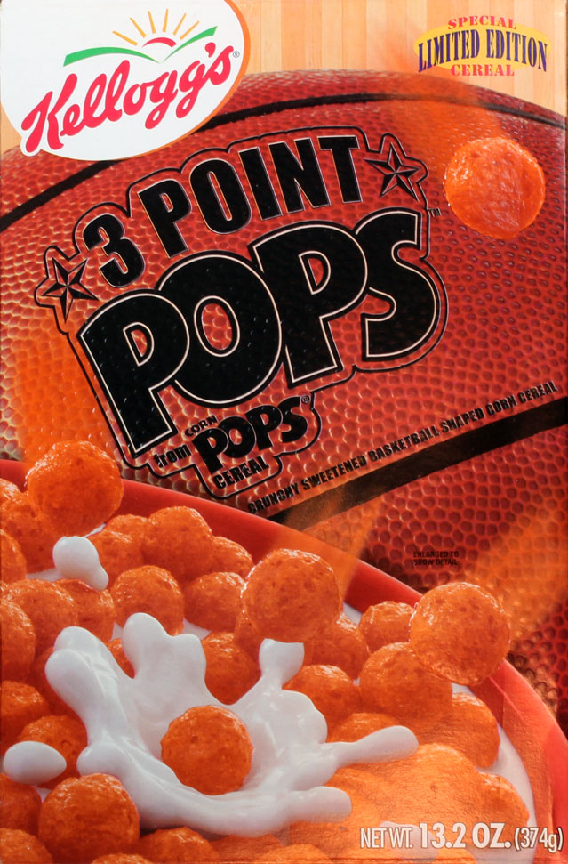 3 Point Pops Cereal Box (Front)