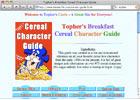 Topher's Breakfast Cereal Character Guide (Fantastic Site)