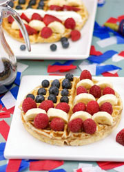 4th of July Red, White And Blue Breakfast Ideas