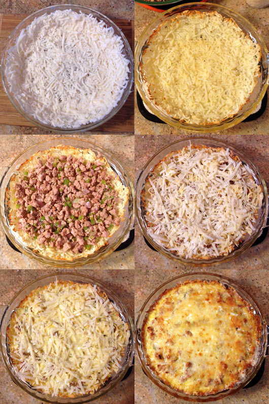 Stages of an Alabama Breakfast Pie