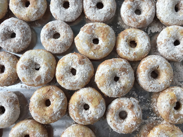 Baked Powdered Donuts