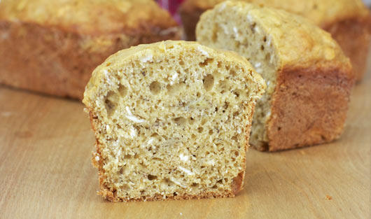 Inside The Banana Oatmeal Bread