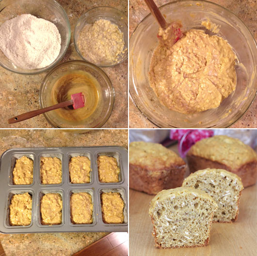 Making Banana Oatmeal Bread
