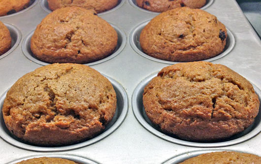 Bran and Flaxseed Muffins
