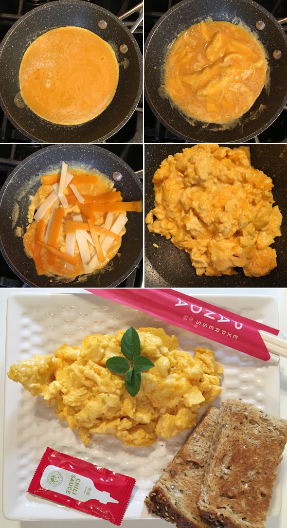 Making Spicy Cheesy Eggs