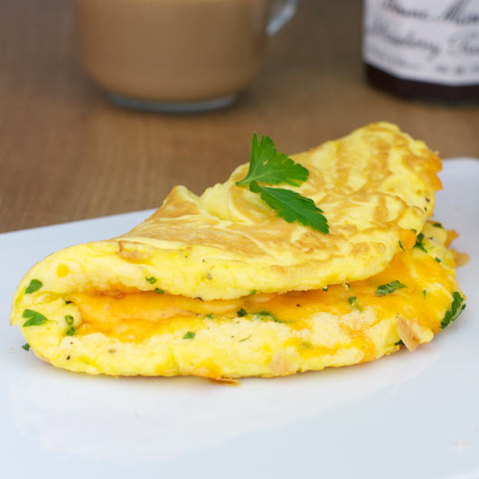 Fluffy Cheese Omelette Recipe Mrbreakfastcom