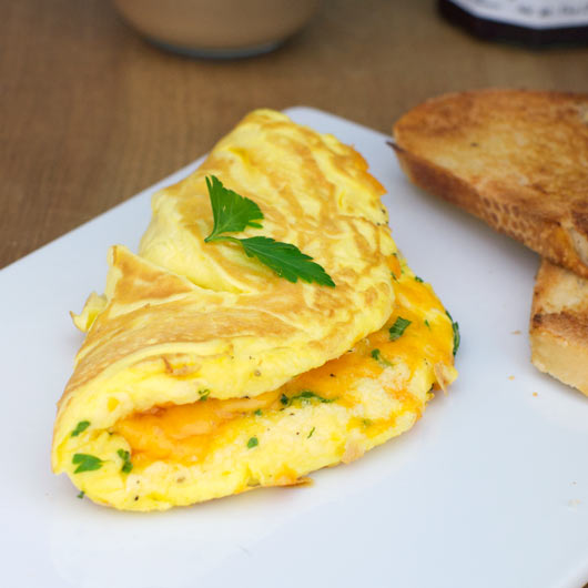 Fluffy Cheese Omelette Recipe | MrBreakfast.com
