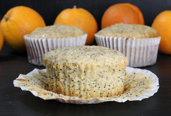 Orange Poppy Seed Muffins Recipe | MrBreakfast.com
