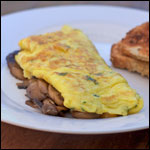 Mushroom And Herb Omelet