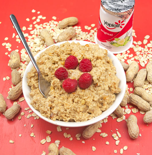 Peanut Butter Yogurt Oatmeal