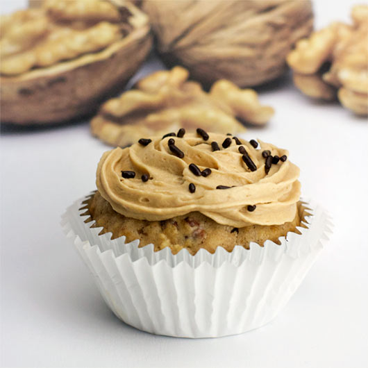 Walnut Muffin With Coffee Icing